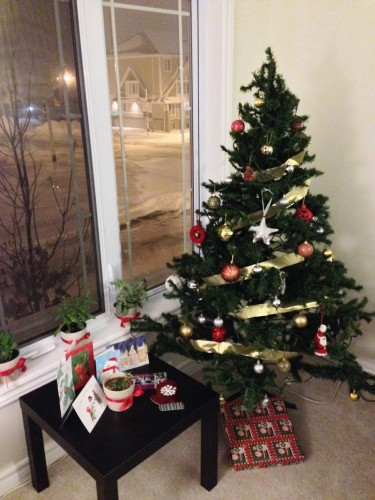 Christmas tree and cards